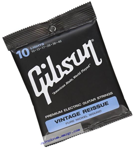 Gibson Vintage Reissue Electric Guitar Strings, Light 10-46